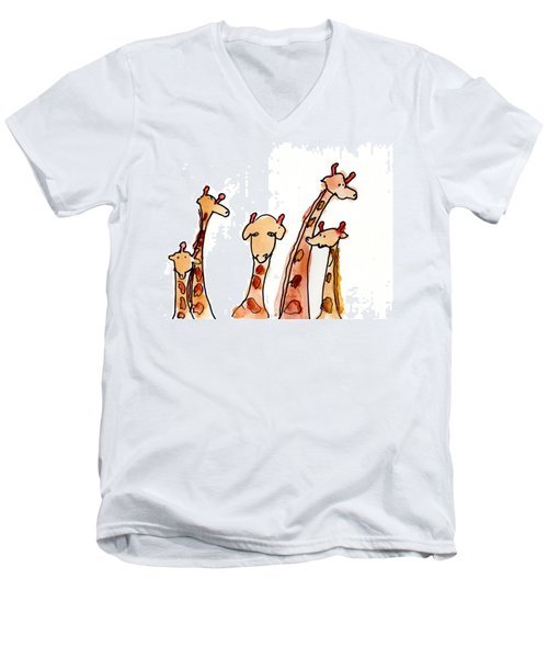 Giraffes Men's V-Neck T-Shirt