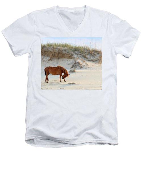 Giving Thanks Men's V-Neck T-Shirt by Debbie Green