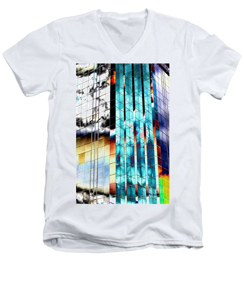 Men's V-Neck T-Shirt featuring the photograph Glass House by Christiane Hellner-OBrien