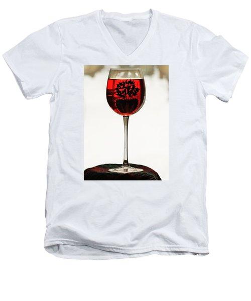 Glass Of Wine... Men's V-Neck T-Shirt by Al Fritz