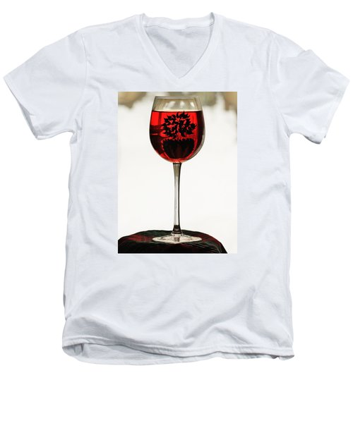 Glass Of Wine... Men's V-Neck T-Shirt