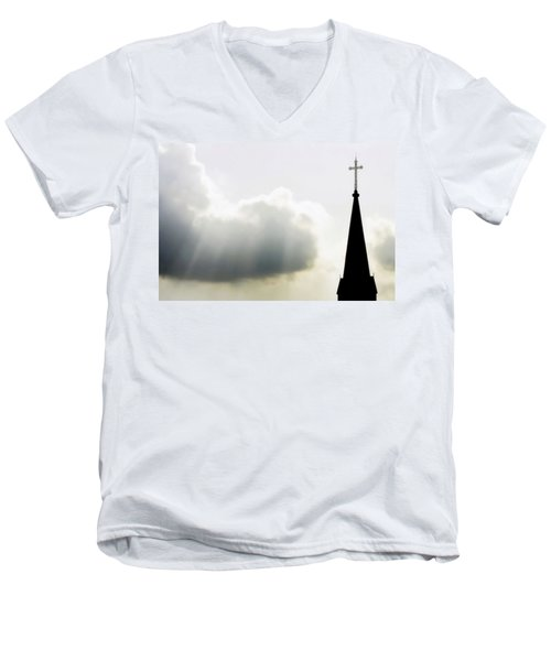 Men's V-Neck T-Shirt featuring the photograph Glorious Day by Charlotte Schafer