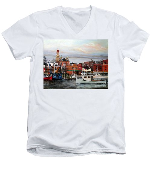 Gloucester Harbor Men's V-Neck T-Shirt