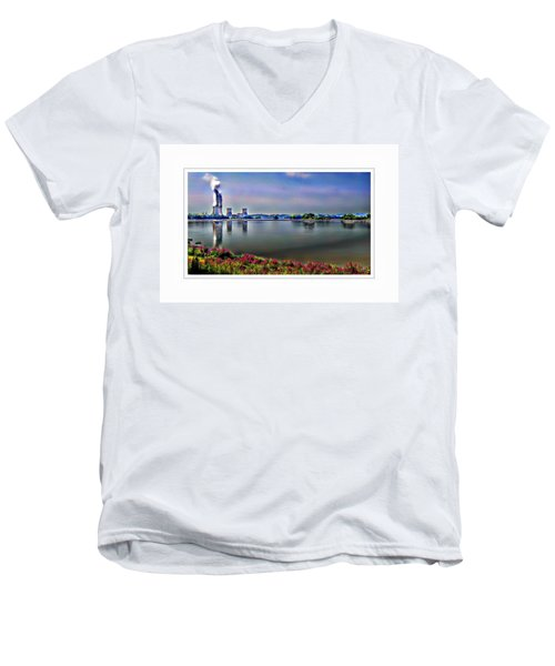 Glowing 3 Mile Island Men's V-Neck T-Shirt