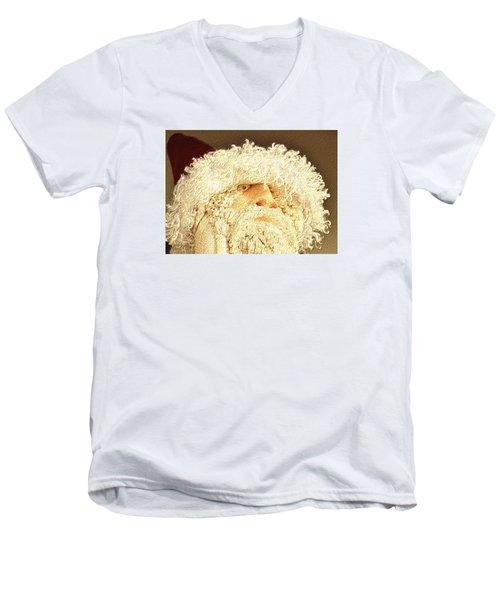 Gnome Santa Men's V-Neck T-Shirt by Nadalyn Larsen
