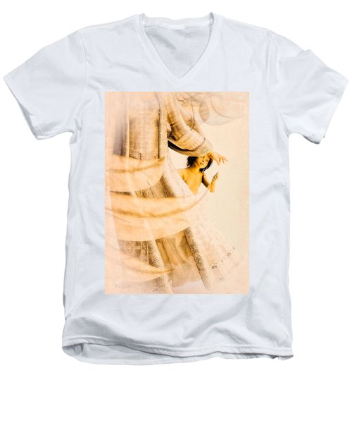 God Bless This Child Men's V-Neck T-Shirt by Bob Orsillo