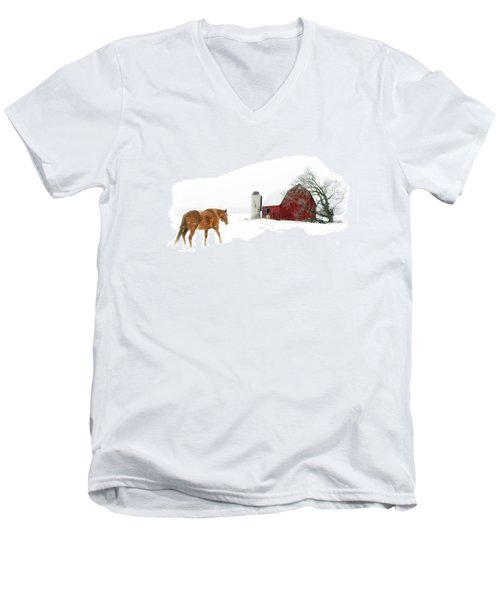 Men's V-Neck T-Shirt featuring the photograph Going Home by Ann Lauwers