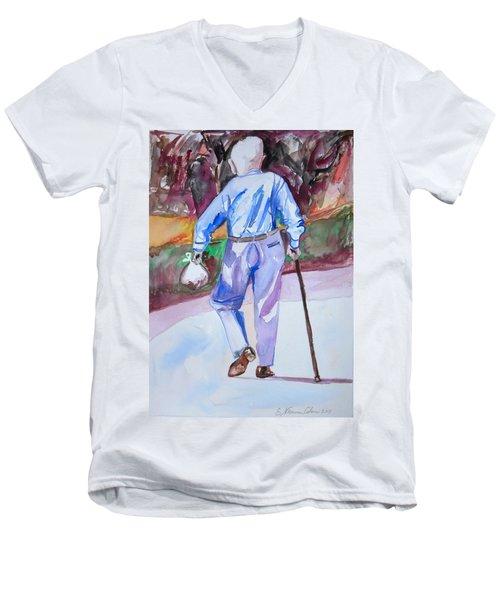 Going Home Men's V-Neck T-Shirt by Esther Newman-Cohen