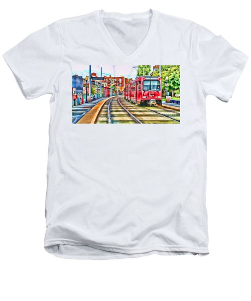 Going To Gillespie Field By Diana Sainz Men's V-Neck T-Shirt