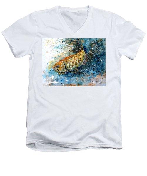 Golden Arowana Men's V-Neck T-Shirt