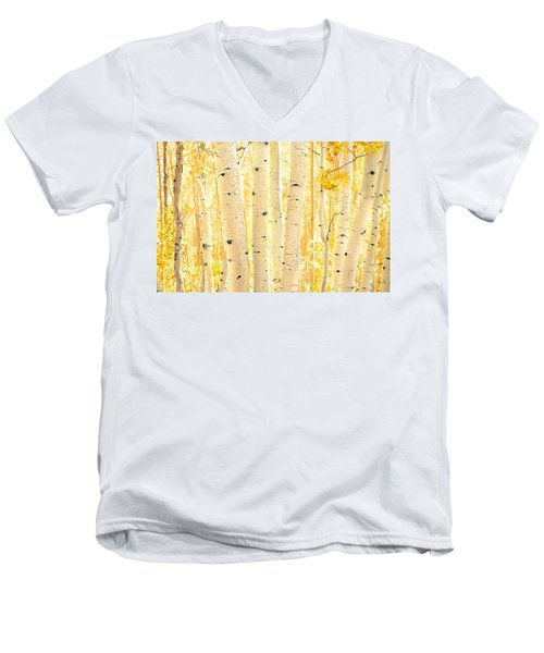 Golden Aspens Utah Men's V-Neck T-Shirt