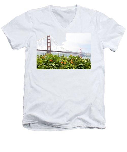 Golden Gate Bridge 2 Men's V-Neck T-Shirt