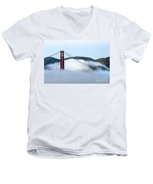 Golden Gate Bridge Clouds Men's V-Neck T-Shirt