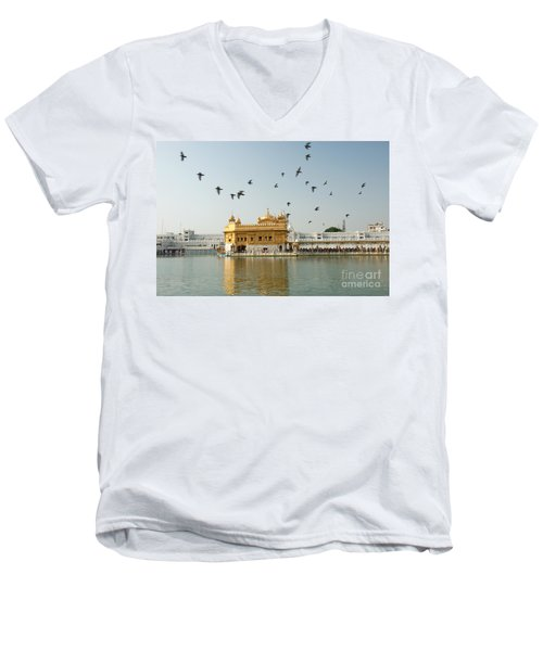 Golden Temple In Amritsar Men's V-Neck T-Shirt