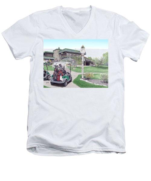 Golf Seven Springs Mountain Resort Men's V-Neck T-Shirt