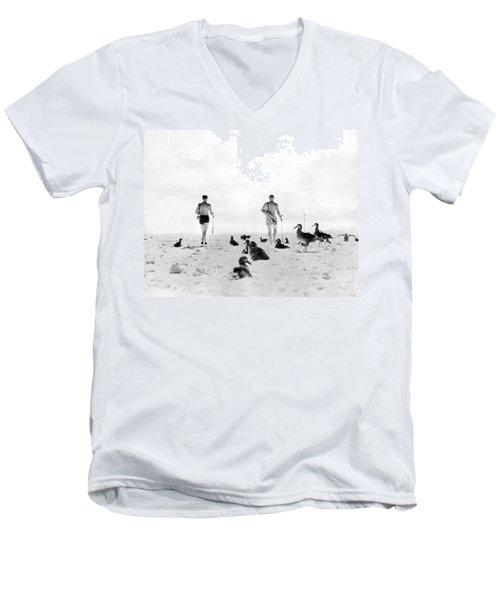 Golf With Gooney Birds Men's V-Neck T-Shirt