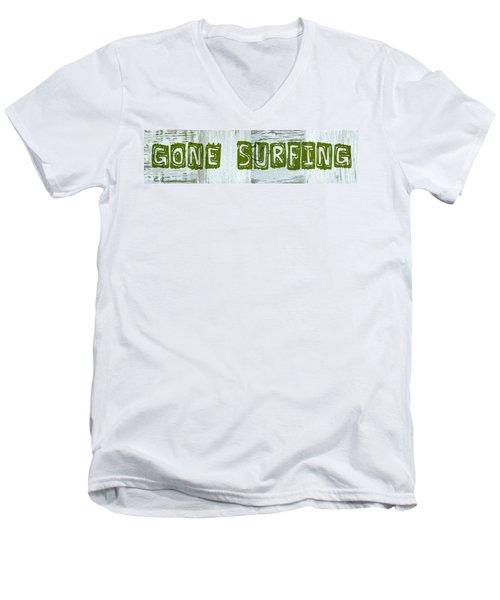 Gone Surfing Men's V-Neck T-Shirt