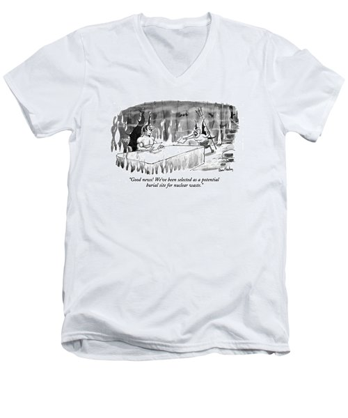 Good News! We've Been Selected As A Potential Men's V-Neck T-Shirt