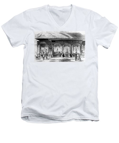 Goodyear Rubber Exhibit Men's V-Neck T-Shirt by Underwood Archives