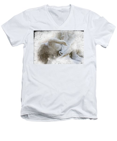 Goose With Master Men's V-Neck T-Shirt