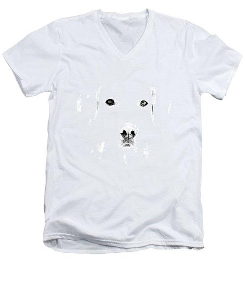 Dog Face Men's V-Neck T-Shirt