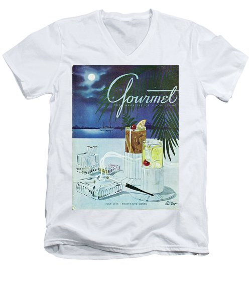 Gourmet Cover Of Cocktails Men's V-Neck T-Shirt