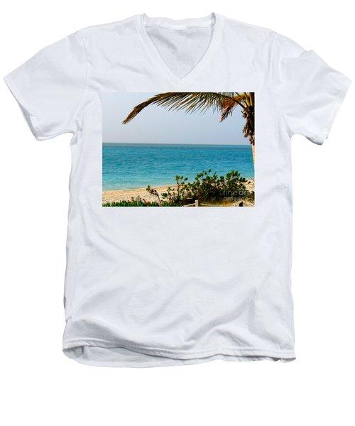 Grace Bay Men's V-Neck T-Shirt by Patti Whitten