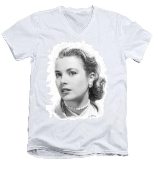 Grace Kelly Pencil Men's V-Neck T-Shirt