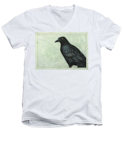 Grackle Men's V-Neck T-Shirt by James W Johnson