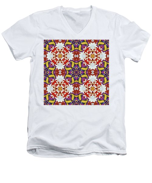 Graffito Kaleidoscope 40 Men's V-Neck T-Shirt