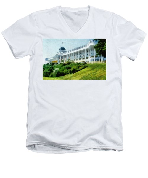 Grand Hotel Mackinac Island Ll Men's V-Neck T-Shirt