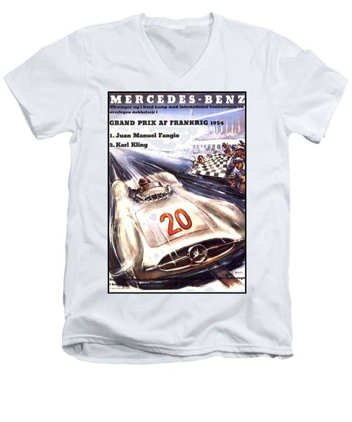 Grand Prix F1 Reims France 1954  Men's V-Neck T-Shirt