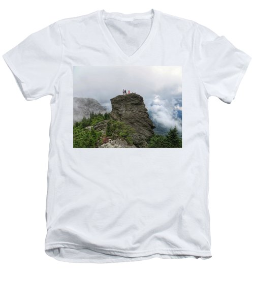 Grandfather Mountain Hikers Men's V-Neck T-Shirt
