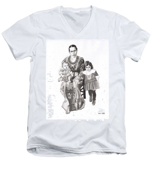 Grandma's Family Men's V-Neck T-Shirt by Sean Connolly