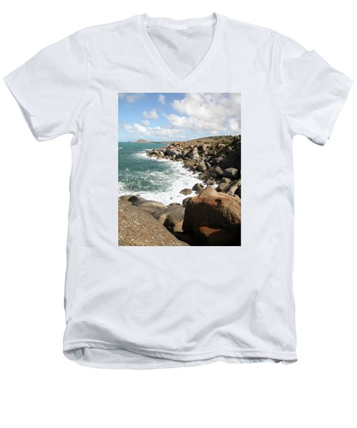 Granite Island Men's V-Neck T-Shirt
