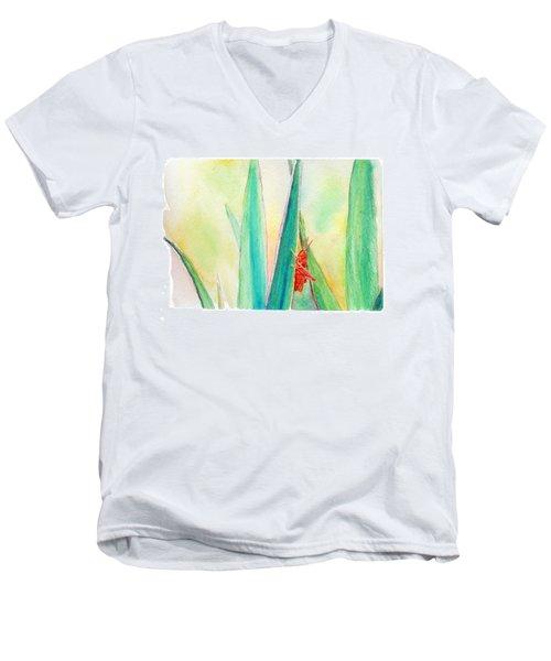 Grasshopper Men's V-Neck T-Shirt by C Sitton