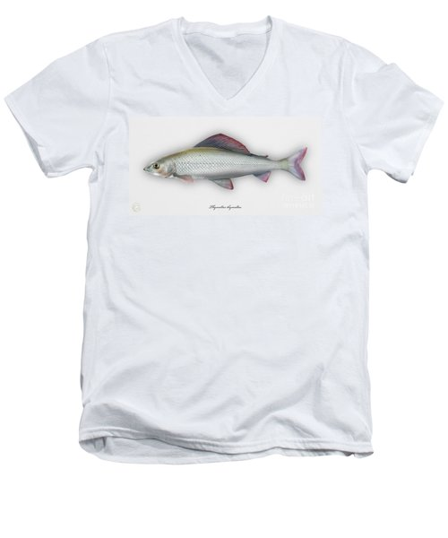 Grayling - Thymallus Thymallus - Ombre Commun - Harjus - Flyfishing - Trout Waters - Trout Creek Men's V-Neck T-Shirt