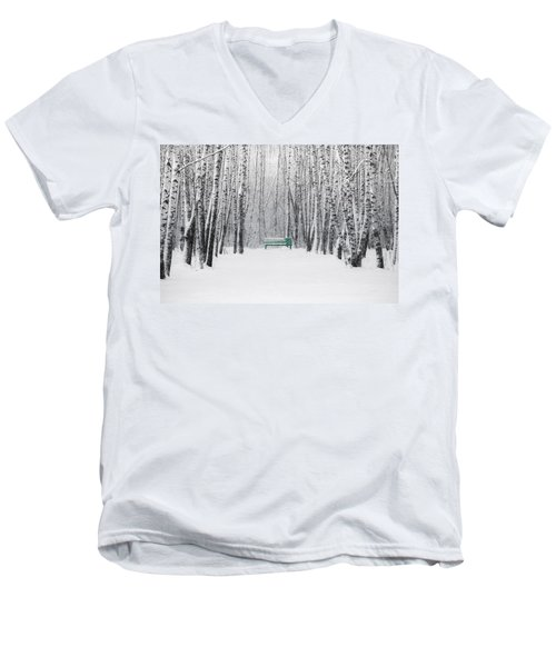 Green Bench Men's V-Neck T-Shirt