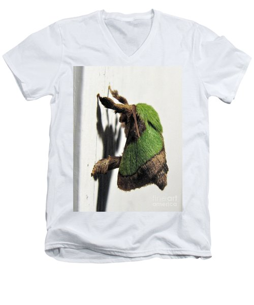 Green Hair Moth Men's V-Neck T-Shirt