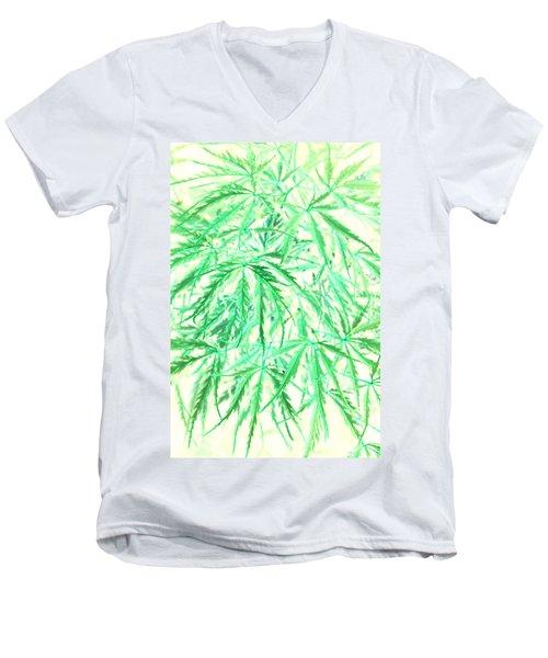 Men's V-Neck T-Shirt featuring the photograph Green Splender by Jamie Lynn