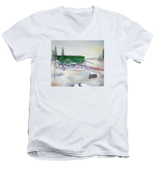 Green Wagon Men's V-Neck T-Shirt