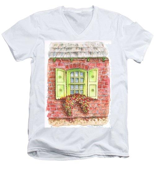 Green Window Men's V-Neck T-Shirt