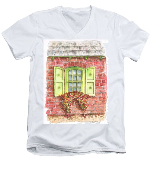 Green Window Men's V-Neck T-Shirt