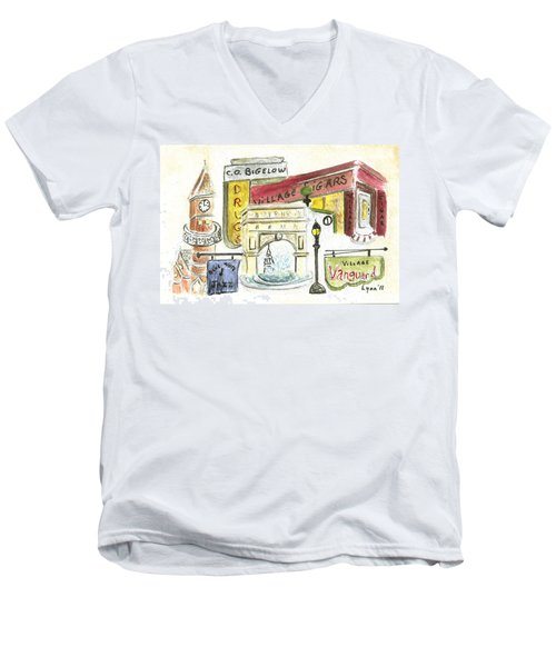 Greenwich Village Collage Men's V-Neck T-Shirt