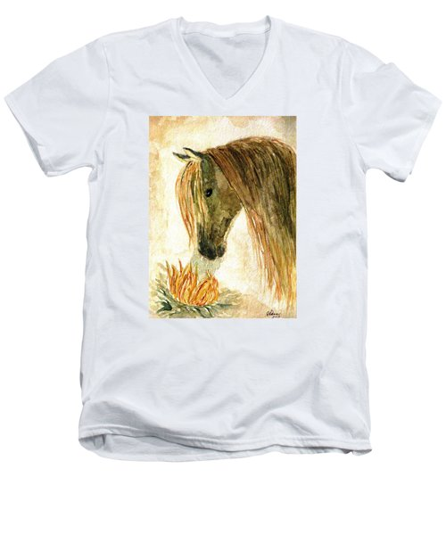 Greeting A Sunflower Men's V-Neck T-Shirt
