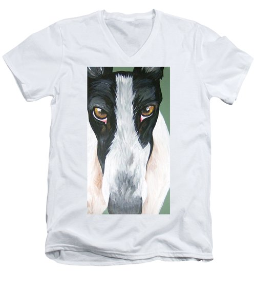 Greyhound Eyes Men's V-Neck T-Shirt