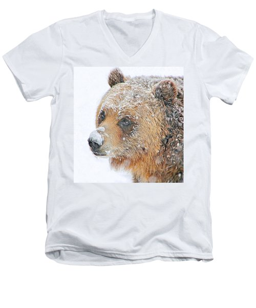Grizzly Frost Men's V-Neck T-Shirt