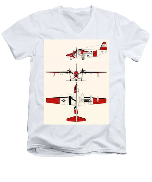 Grumman Hu-16e Albatross Men's V-Neck T-Shirt