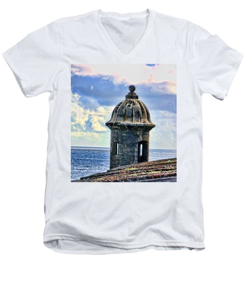 Guard Tower At El Morro Men's V-Neck T-Shirt