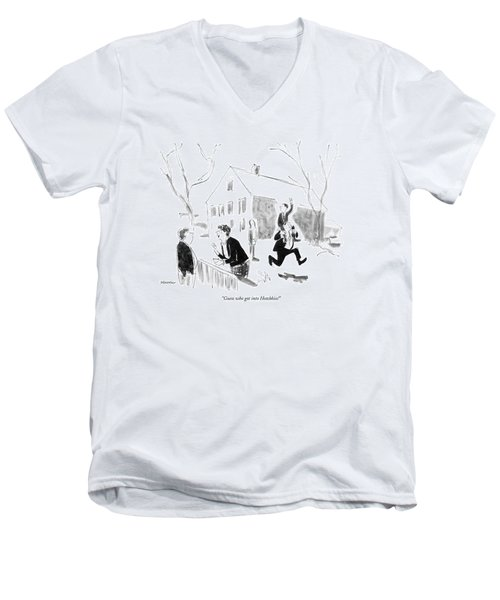 Guess Who Got Into Hotchkiss! Men's V-Neck T-Shirt